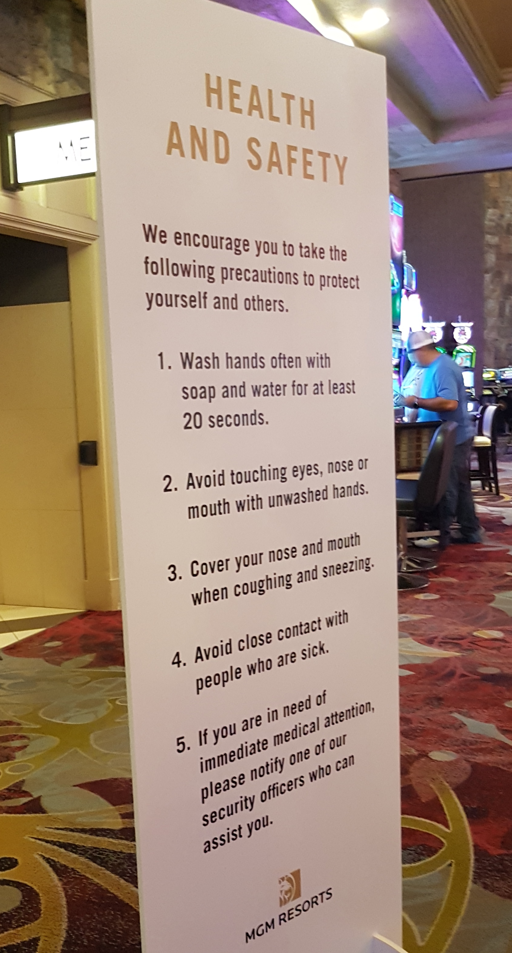 Vegas Wash Hands